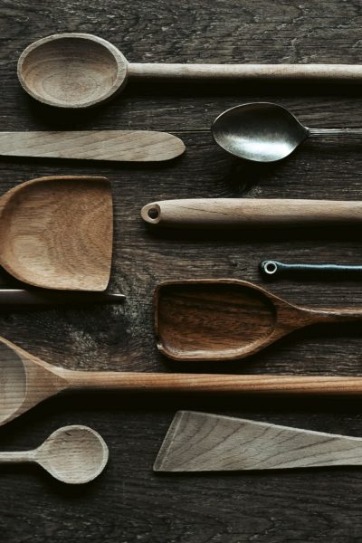 An assortment of wooden spoons